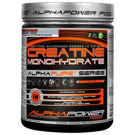AlphaPower Food 100% Pure Creatine Monohydrate 1000 g.